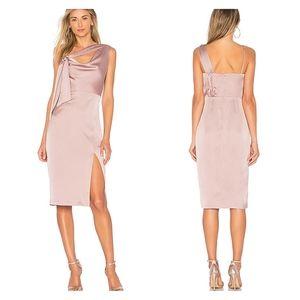 New Finders Keepers Blush Pink Draped Midi Dress